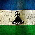 Grunge Lesotho Flag by Steve Ball