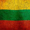 Grunge Lithuania Flag by Steve Ball