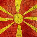Grunge Macedonia Flag by Steve Ball