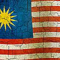 Grunge Malasia Flag  by Steve Ball