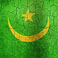 Grunge Mauritania Flag by Steve Ball