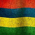 Grunge Mauritius Flag by Steve Ball