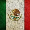 Grunge Mexico Flag by Steve Ball