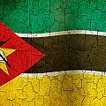 Grunge Mozambique Flag by Steve Ball