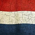 Grunge Netherlands Flag by Steve Ball