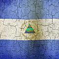 Grunge Nicaragua Flag by Steve Ball