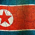 Grunge North Korea Flag by Steve Ball