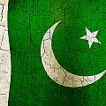 Grunge Pakistan Flag by Steve Ball
