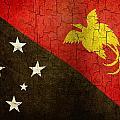 Grunge Papua New Guinea Flag by Steve Ball