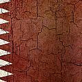 Grunge Qatar Flag by Steve Ball