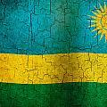 Grunge Rwanda Flag by Steve Ball