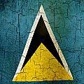 Grunge Saint Lucia Flag by Steve Ball