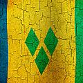 Grunge Saint Vincent And The Grenadines Flag by Steve Ball