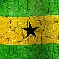 Grunge Sao Tome And Principe Flag by Steve Ball