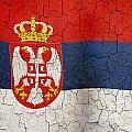 Grunge Serbia Flag by Steve Ball