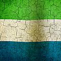 Grunge Sierra Leone Flag by Steve Ball