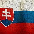 Grunge Slovakia Flag by Steve Ball