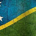 Grunge Solomon Islands Flag by Steve Ball