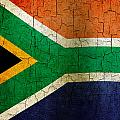 Grunge South Africa Flag by Steve Ball