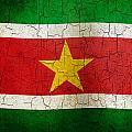Grunge Suriname Flag by Steve Ball