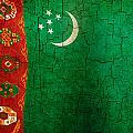 Grunge Turkmenistan Flag by Steve Ball