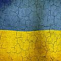 Grunge Ukraine Flag by Steve Ball