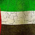 Grunge United Arab Emirates Flag by Steve Ball