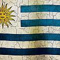 Grunge Uruguay Flag by Steve Ball