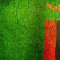 Grunge Zambia Flag by Steve Ball
