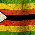 Grunge Zimbabwe Flag by Steve Ball