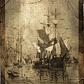 Grungy Historic Seaport Schooner by John Stephens