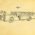 Grybos Fire Truck Patent Art 1940 by Ian Monk