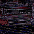 Gto Car Art by Alan Hutchins