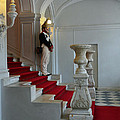 Guard At Catherine Palace In Russia by Catherine Sherman