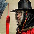 Guard At Gyeongbokgung by Joan Carroll