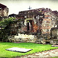 Guatemalan Church Courtyard Ruins by Ellen Cannon