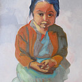Guatemalan Girl With Folded Hands by Suzanne Cerny
