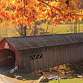 Guilford Vermont Covered Bridge by John Burk