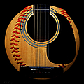 Guitar Baseball Square by Andee Design