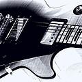 Guitar - Black And White by Travis Truelove