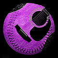 Guitar Grape Baseball Square by Andee Design