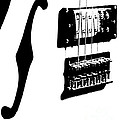 Guitar Graphic In Black And White  by Chris Berry