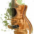 Guitar Green Background 4 by Drawspots Illustrations