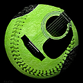 Guitar Keylime Baseball Square  by Andee Design