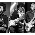 Guitar Legends Jimi Hendrix Jeff Beck And Eric Clapton by Marvin Blaine