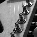 Black And White Guitar by Mike Murdock