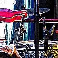 10261 Seasick Steve's Guitar On Drum by Colin Hunt