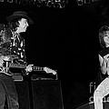 Guitarists Stevie Ray Vaughan W Jeff Beck by Concert Photos