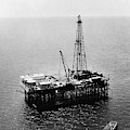 Gulf Of Mexico Oil Rig, 1950 by Granger