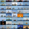 Gulf Of Mexico Oil Rigs Poster by Bradford Martin